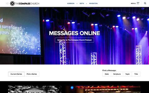 Screenshot of Press Page thecompass.net - Online Sermons   The Compass Church - captured Jan. 6, 2016