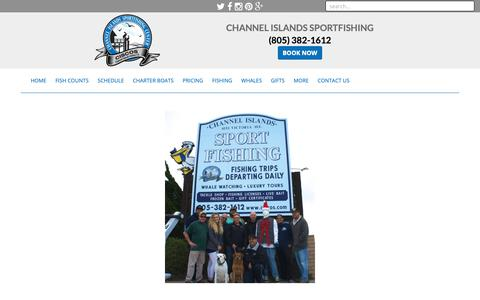 Screenshot of Contact Page Maps & Directions Page channelislandssportfishing.com - Channel Islands Sportfishing Contact Us and Directions Info - captured Sept. 28, 2018