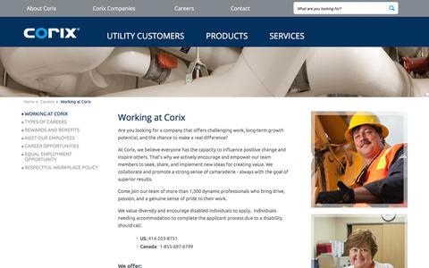 Screenshot of Jobs Page corix.com - Working at Corix Group of Companies - captured Sept. 25, 2018
