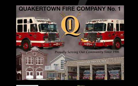 Screenshot of Home Page qfc1.org - Quakertown Fire Company No.1 – Quakertown, PA - captured Oct. 2, 2014