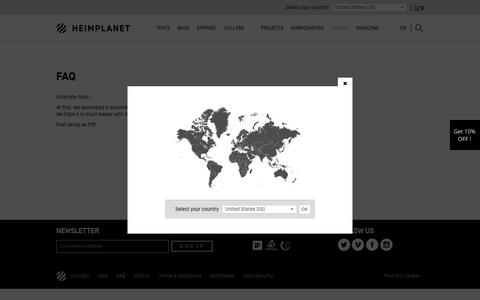 Screenshot of FAQ Page heimplanet.com - Frequently Asked Questions (FAQ) | Heimplanet - captured May 13, 2017