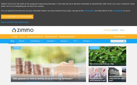 Screenshot of Blog zimmo.be - Zimmo.be — Immo ontdek je bij Zimmo   Hebbes & Zimmo - captured Sept. 21, 2018