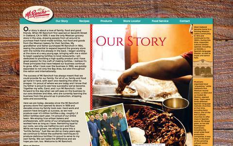 Screenshot of Press Page mirancho.com - Our Story | Mi Rancho - captured Oct. 5, 2014