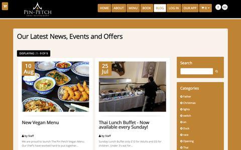 Screenshot of Blog pinpetchthairestaurant.co.uk - Pin Petch | Blog - captured Sept. 28, 2018