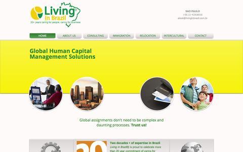 Screenshot of Home Page livinginbrazil.com.br - Living in Brazil - captured Oct. 3, 2014