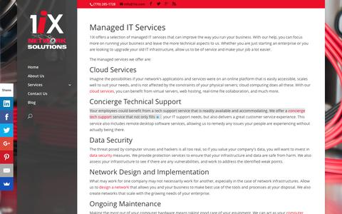 Screenshot of Services Page 1ix.com - Knowledgeable Managed IT Services in Atlanta | 1ix - captured Dec. 18, 2016