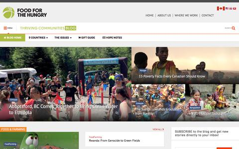 Screenshot of Blog fhcanada.org - Food for the Hungry - captured June 5, 2017
