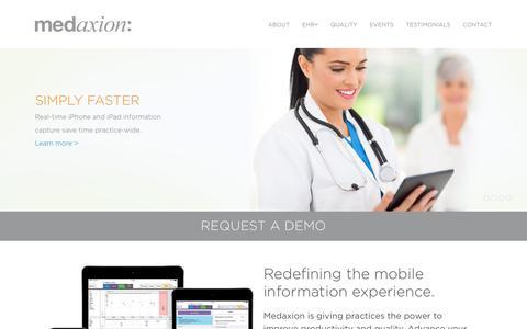 Screenshot of Home Page medaxion.com - Home - Medaxion - captured Dec. 6, 2016
