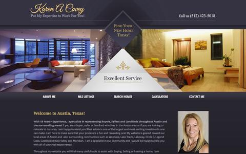 Screenshot of Home Page karencovey.com - Karen Covey - Homes to Buy and Homes for Sale in the Austin and  Community - captured Jan. 30, 2016