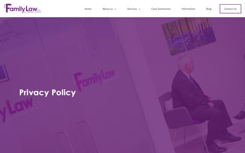 Screenshot of Privacy Page thefamilylawco.co.uk - Privacy Policy | The Family Law Co - captured Jan. 26, 2016