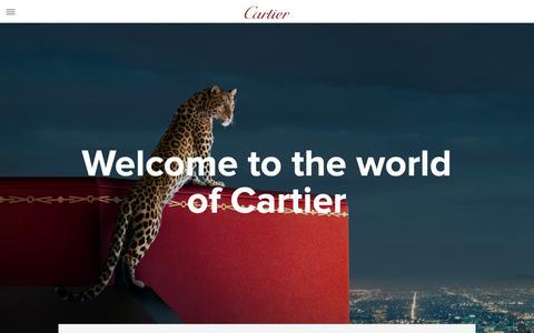 Screenshot of Jobs Page cartier.com - Home | Cartier - captured Feb. 9, 2019