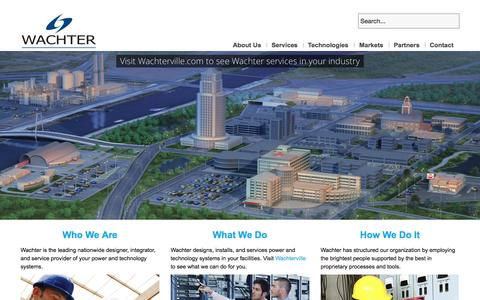 Screenshot of Home Page Contact Page Jobs Page Site Map Page wachter.com - Wachter, Inc. - captured Oct. 6, 2014