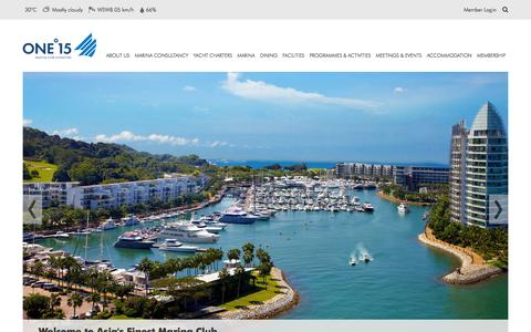 Screenshot of Home Page one15marina.com - ONE15 Marina Club | Asia's finest Marina and Leisure hub - captured Sept. 22, 2014