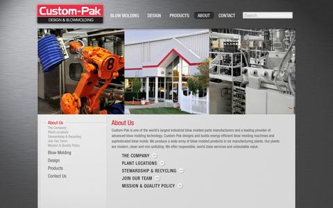 Screenshot of About Page custom-pak.com - About Custom-Pak - captured Oct. 3, 2014