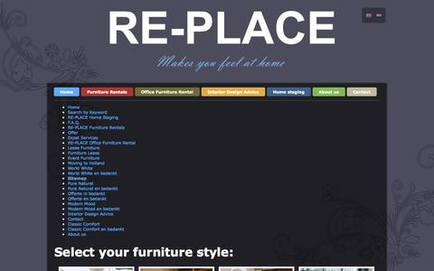 Screenshot of Site Map Page re-place.nl - Sitemap | Re-Place Furniture Rental - captured Oct. 28, 2014