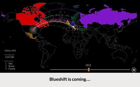 Screenshot of Home Page blueshift.io - BlueShift | Bring data to life - captured Nov. 22, 2016