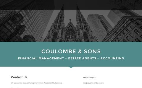 Screenshot of Home Page coulombeandsons.com - Coulombe & Sons - captured July 16, 2016