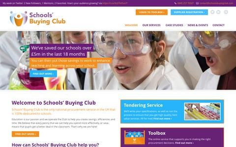Screenshot of Home Page schoolsbuyingclub.com - Schools Buying Club - captured Dec. 21, 2015