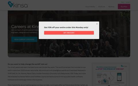 Screenshot of Jobs Page kinsahealth.com - Careers | Kinsa Health - captured June 27, 2017
