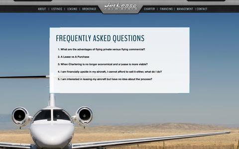 Screenshot of FAQ Page jetlease.com - JetLease - Palm Beach - captured Sept. 30, 2014