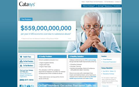 Screenshot of Home Page catasys.com - Specialized Health Management Services - captured July 11, 2014