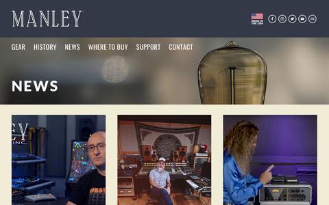Screenshot of Press Page manley.com - NEWS — Manley Laboratories, Inc. - captured Oct. 2, 2018