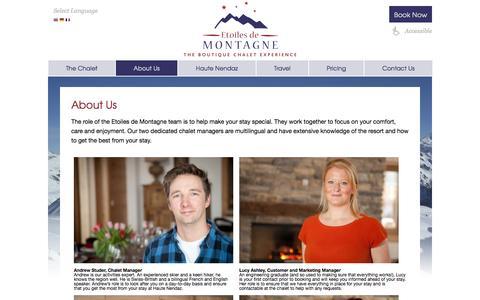 Screenshot of About Page etoilesdemontagne.com - Etoiles de Montagne   » About Us - captured Oct. 2, 2014