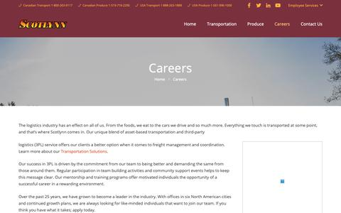 Screenshot of Jobs Page Team Page scotlynn.com - Careers – Scotlynn Group - captured Nov. 12, 2018
