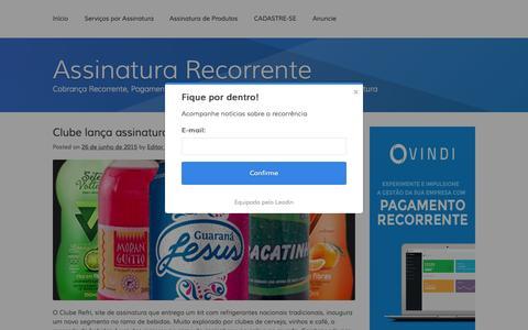 Screenshot of Home Page assinaturarecorrente.com - Assinatura Recorrente - Cobrança Recorrente, Pagamento Recorrente, Faturamento Recorrente e Sites de Assinatura - captured Nov. 12, 2015