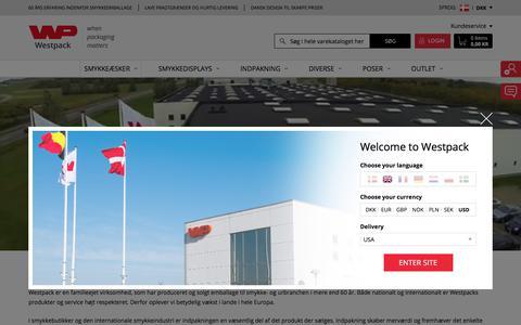 Screenshot of About Page westpack.com - Om Westpack - captured June 28, 2017