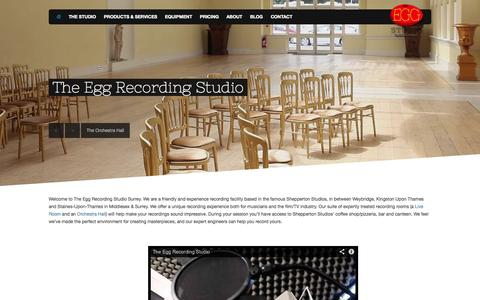 Screenshot of Home Page the-egg-recording-studio.com - The Egg Recording Studio, Shepperton, Surrey and Middlesex - captured Oct. 6, 2014