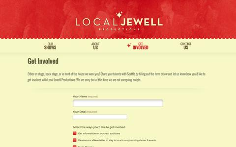 Screenshot of Signup Page localjewell.com - Get Involved - captured Oct. 3, 2014