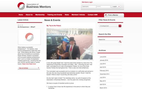 Screenshot of Press Page associationofbusinessmentors.org - The Association of Business Mentors   The Trade Body for Business Mentoring in the UK and Ireland. - captured July 26, 2016