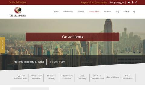 Screenshot of Case Studies Page orlowlaw.com - Case Studies Archives | The Orlow FirmThe Orlow Firm - captured Feb. 15, 2016