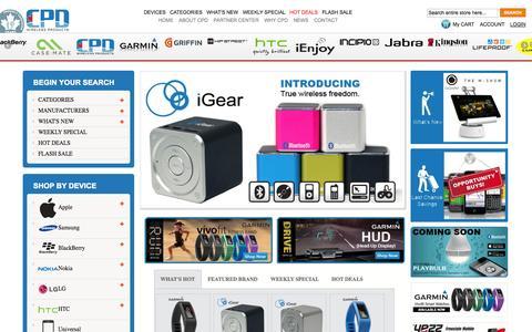 Screenshot of Home Page cpdcanada.com - Home page - captured Sept. 26, 2014