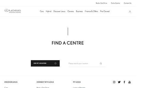 Find a Centre | Lexus UK