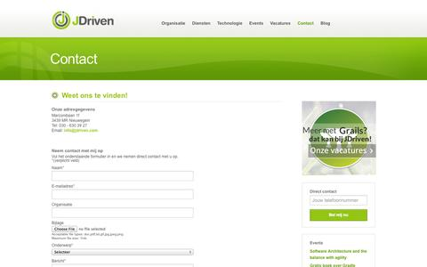 Screenshot of Contact Page jdriven.com - » Contact » JDriven - captured Sept. 19, 2014