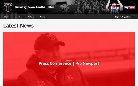Screenshot of Press Page grimsby-townfc.co.uk - Latest News - Grimsby Town - captured Sept. 22, 2017