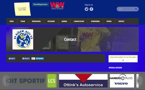 Screenshot of Contact Page blauwgeel55.nl - Contact - Blauw Geel '55 - captured Oct. 26, 2017