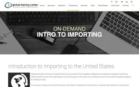 Global Training Center - Introduction to Import Compliance Class