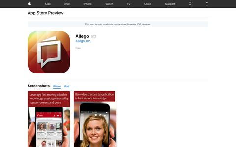 Allego on the AppStore