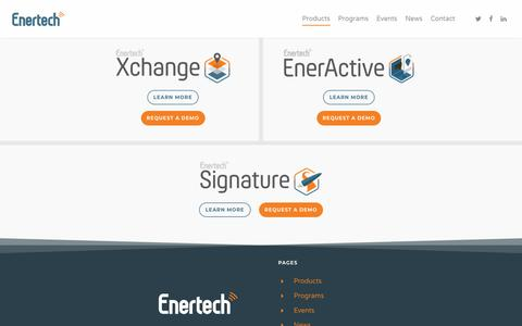 Screenshot of Products Page enertech.com - Products - Energy Technologies, LLC - captured Sept. 28, 2018