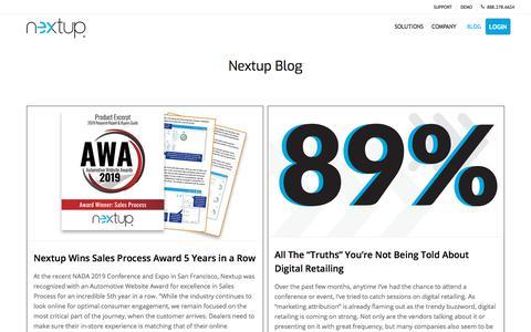 Screenshot of Blog thenextup.com - Nextup Blog | Automotive Industry - captured Nov. 11, 2019