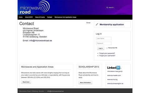 Screenshot of Contact Page microwaveroad.se - Contact - captured Oct. 27, 2014