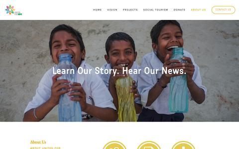 Screenshot of Press Page unitedforhope.org - UNITED FOR HOPE United For Hope - captured Oct. 20, 2018