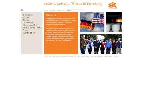 Screenshot of About Page sk-usa.com - About Soendgen Keramik (SK) Germany - captured Feb. 3, 2016
