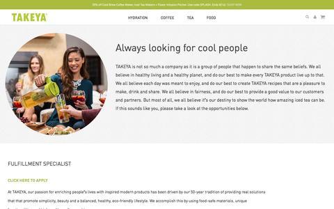 Screenshot of Jobs Page takeyausa.com - Takeya - captured Aug. 11, 2016