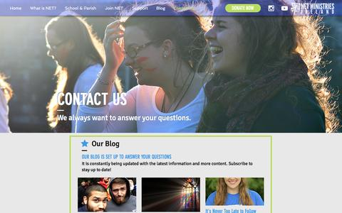Screenshot of Contact Page netministries.ie - netireland | Contact Us - captured Dec. 3, 2016