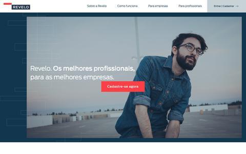 Screenshot of Home Page revelo.com.br - Revelo | Os melhores talentos, para as melhores empresas. - captured Sept. 28, 2018