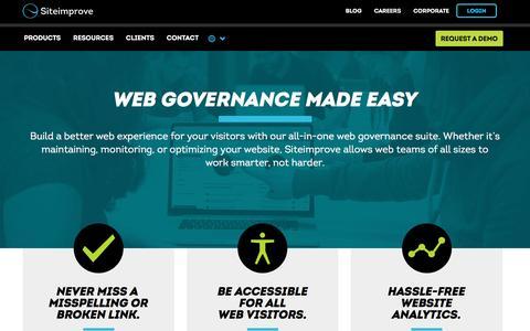 Web Governance Made Easy | Siteimprove